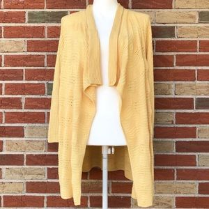 🔥 Chico's Open Front Waterfall Eyelet Cardigan